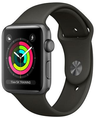 Фото Смарт-часы, Apple Смарт-часы Apple Watch Series 3 38mm Space Gray Aluminum Case with Gray Sport Band (MR352FS/A)