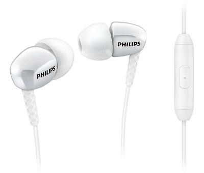 Наушники Philips SHE3905WT/00 с микрофоном (белые)