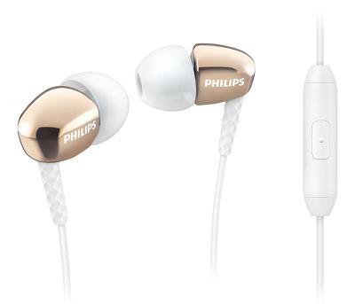 Наушники Philips SHE3905GD/00 с микрофоном (золотые)