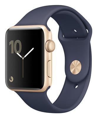 Смарт-часы Apple Watch Series 1 42mm Gold Aluminium Case with Midnight Blue Sport Band (ZKMQ122)