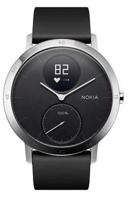 Смарт-часы Nokia Steel HR 40mm Black для Apple и Android устройств