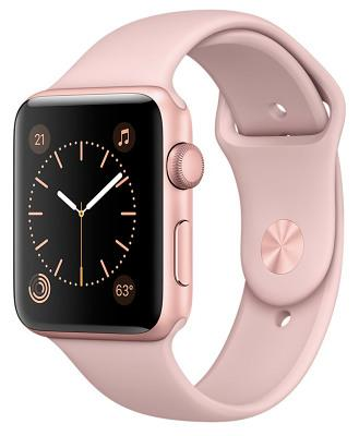 Смарт-часы Apple Watch Series 2 42mm Rose Gold Aluminum Case Pink Sand Sport Band (ZKMQ142)