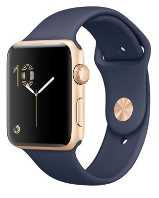 Смарт-часы Apple Watch Series 2 42mm Gold Aluminum Case Midnight Blue Sport Band (ZKMQ152)