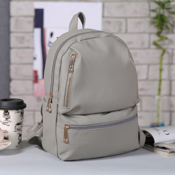 Рюкзак молод Милана, 26*14*31, отдел на молнии, 4 н/кармана, 2 бок кармана, серый