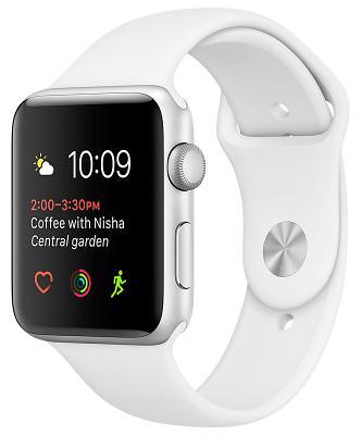 Смарт-часы Apple Watch Series 1 42mm Silver Aluminium Case with White Sport Band (ZKMNNL2)