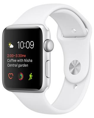 Смарт-часы Apple Watch Series 2 38mm Silver Aluminum Case White Sport Band (ZKMNNW2LL/A)