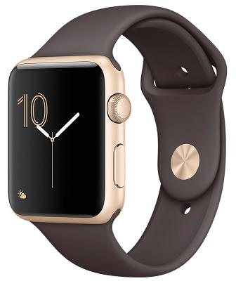 Фото Смарт-часы, Apple Смарт-часы Apple Watch Series 1 42mm Gold Aluminium Case with Cocoa Sport Band (ZKMNNN2)