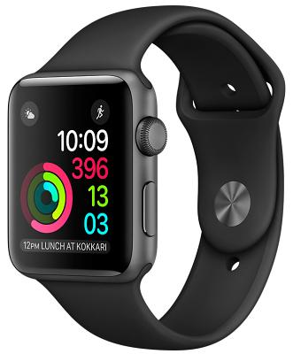 Смарт-часы Apple Watch Series 1 42mm Space Gray Aluminum Case Black Sport Band (ZKMP032)