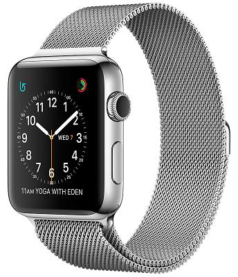 Смарт-часы Apple Watch Series 2 38mm Stainless Steel Case with Silver Milanese Loop (ZKMNP62LL/A)