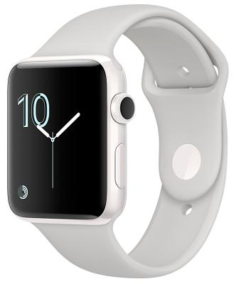 Смарт-часы Apple Watch Series 2 42mm Ceramic Case Cloud Sport Band (ZKMNPQ2LL/A)