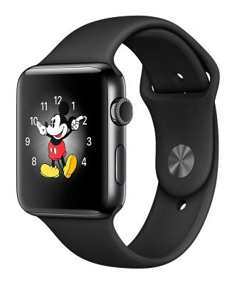 Смарт-часы Apple Watch Series 2 42mm Space Black Stainless Steel Case Black Sport Band (ZKMP4A2LL/A)