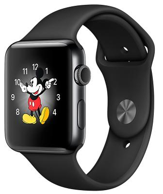 Смарт-часы Apple Watch Series 2 38mm Space Black Stainless Steel Case Black Sport Band (ZKMP492LL/A)