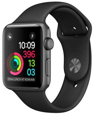 Смарт-часы Apple Watch Series 2 42mm Space Gray Aluminum Case Black Sport Band (ZKMP062LL/A)