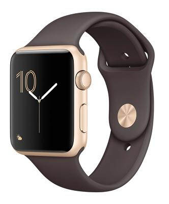 Смарт-часы Apple Watch Series 2 42mm Gold Aluminum Case Cocoa Sport Band (ZKMNPN2LL/A)