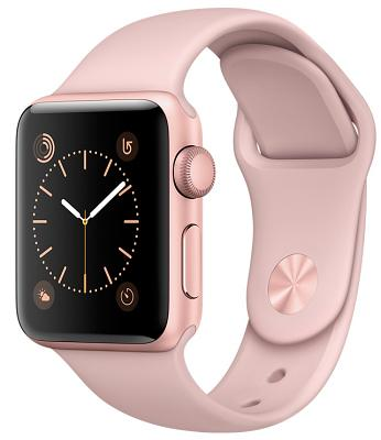 Смарт-часы Apple Watch Series 2 38mm Rose Gold Aluminum Case Pink Sand Sport Band (ZKMNNY2LL/A)