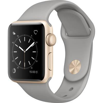 Смарт-часы Apple Watch Series 2 38mm Gold Aluminum Case Concrete Sport Band (ZKMNP22LL/A)