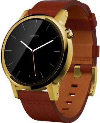 Смарт-часы Moto360 V2 Gold Peak - Gold - BLUSH Leather Band 42mm (NEW) для Apple и Android устройств