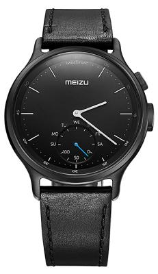 Смарт-часы Meizu Light Smartwatch Black Leather Band