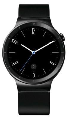 Смарт-часы Huawei 42mm Stainless Steel - Black Leather Band для Apple и Android устройств