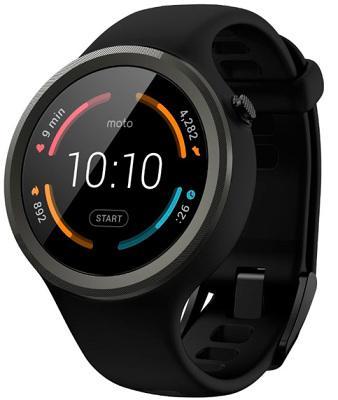 Смарт-часы Moto 360 2nd Gen Sport Black (SM4293AE7B1) для Apple и Android устройств