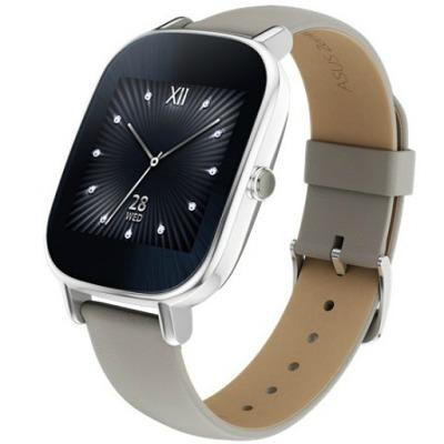 Смарт-часы Asus - ZenWatch 2 Smartwatch 45mm Stainless Steel - Silver/Khaki Leather