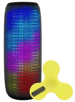 Светодиодная портативная акустика AIR MUSIC PULSE + Bluetooth Спиннер (Yellow)