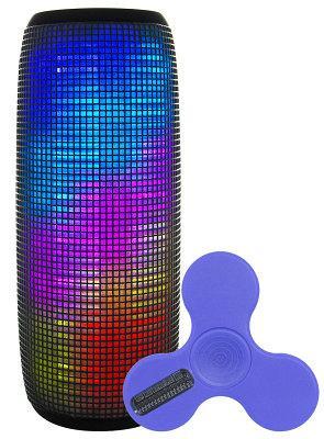 Светодиодная портативная акустика AIR MUSIC PULSE + Bluetooth Спиннер (Blue)
