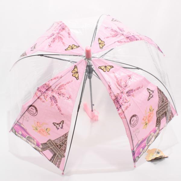 Детский зонт: прозрачный Париж