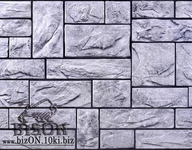 Фото Листовые панели ПВХ Камень «ПИЛЕНЫЙ НАСТОЯЩИЙ СЕРЫЙ»   Листовые панели ПВХ