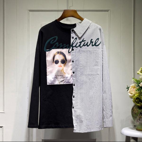 Рубашка комбинированная