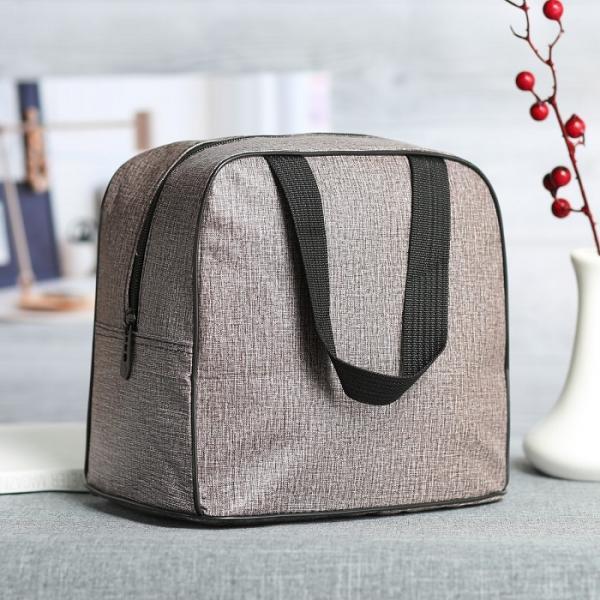 Косметичка-сумочка Пастель, 22*15,5*20,5, отд на молнии, ручки, коричневый