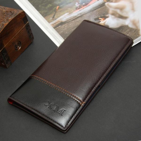 Портмоне мужское, 3 отдела, для карт, сим-карты, цвет коричнево-чёрный