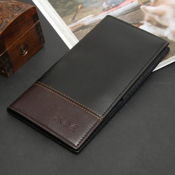 Портмоне мужское, 3 отдела, для карт, сим-карты, цвет чёрно-коричневый