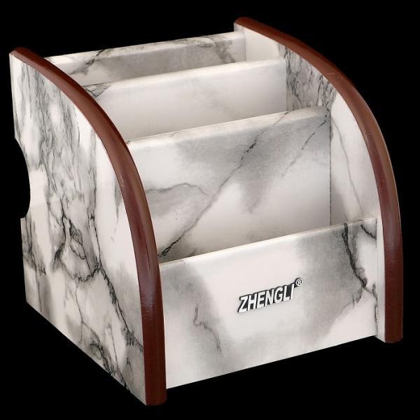 Органайзер, под серый мрамор, 3 секции 13*12 см