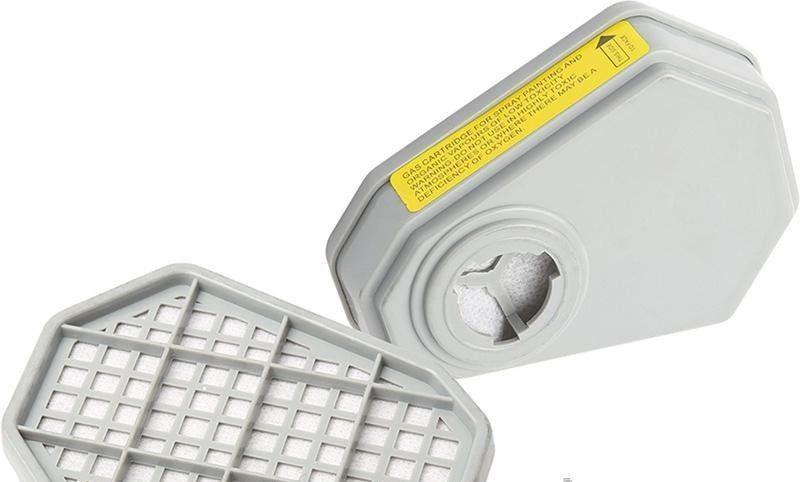 Газовый фильтр для респиратора (кислотный, 8-ми угольный) Miol 91-135