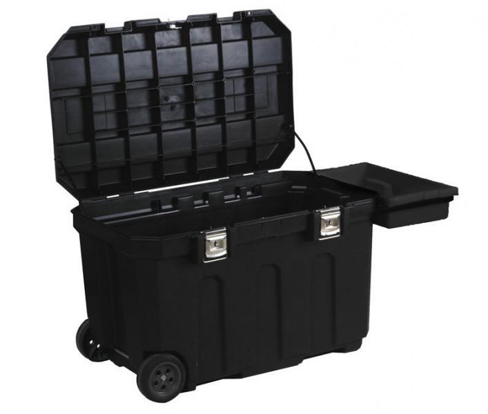 """Ящик пластмассовый с колесами """"Mobile Job Chest™"""" с интегрированным замком."""