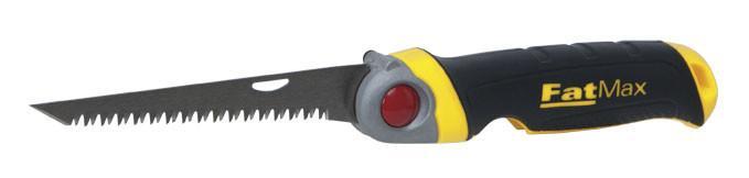 Ножовка узкая 130мм 8TPI складная FatMax, JetCut, 3 положения по гипсокартону  STANLEY FMHT0-20559