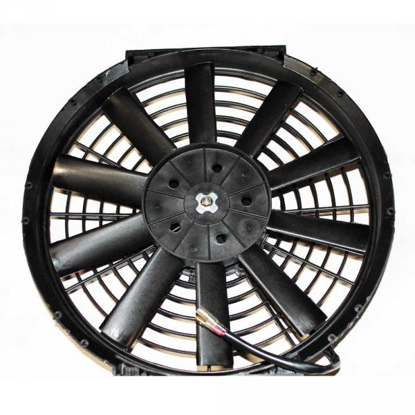 Вентилятор осевой  10''  12V  PULL   100W прямые лопасти, корпус тип В