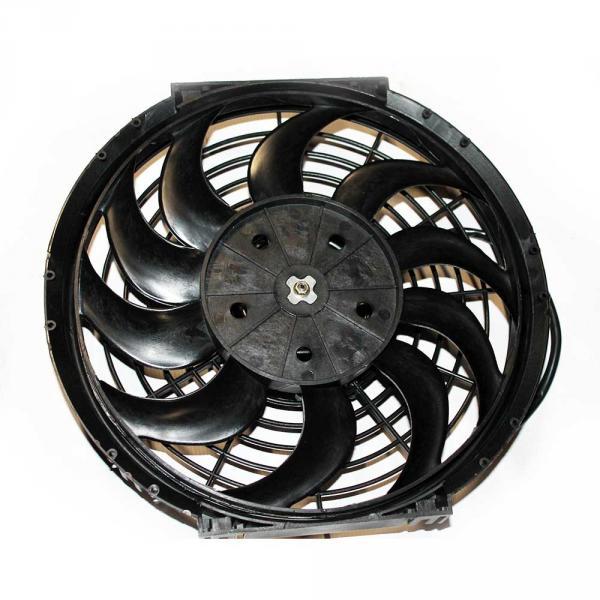 Вентилятор осевой  12'' S 12V  PUSH   80W изогнутые лопасти, корпус тип А