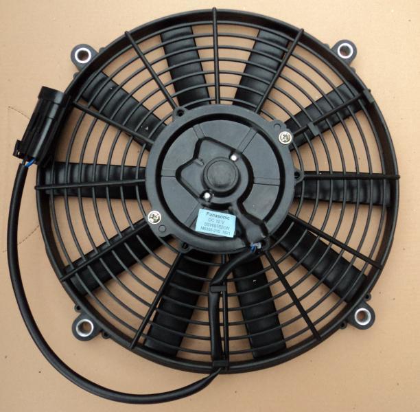 Вентилятор осевой  12''  12V  PUSH   80W   прямые лопасти, корпус тип В