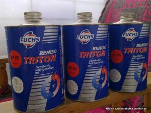 Фото Автохимия, Технические масла и жидкости FUCHS компрессорное и кондиционера RENISO TRITON SE 55 1л