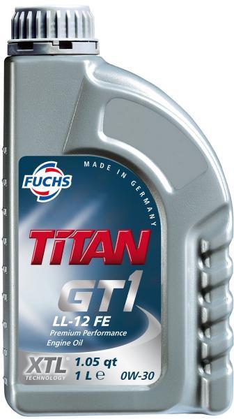 моторное масло BMW  TITAN GT1 LL-12 FE 0W-30 4л BMW, C2 FUCHS Синтетика