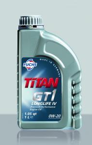Фото Моторное масло Масло моторное  TITAN GT1 LONGLIFE IV 0W-20 4л VW 508.00/509.00 FUCHS Синтетика