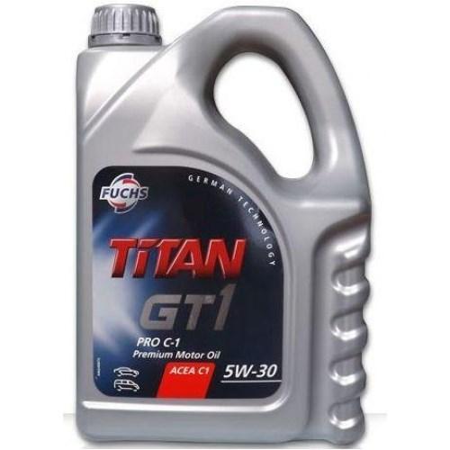 Моторное масло TITAN GT1 PRO C-2 5W-30 4л FUCHS Синтетика