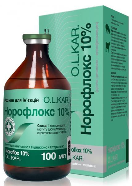 Норофлокс ін. 10% 100 мл O.L.KAR.