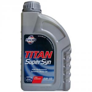 Фото Автохимия, Масло моторное Моторное масло TITAN Supersyn 5W-50 FUCHS Синтетика