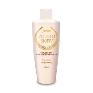 Фото Для волосся, Серія Zoloto Skifiv Бальзам кондиціонер для нормального волосся з біозолотом та екстрактом меду