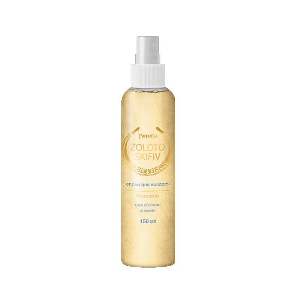 Спрей-кондиціонер для волосся з біозолотом, олією обліпихи та вітамінами