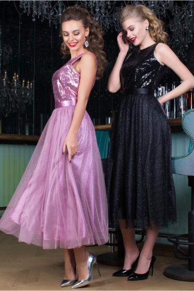 длинное вечернее платье Seam 6950