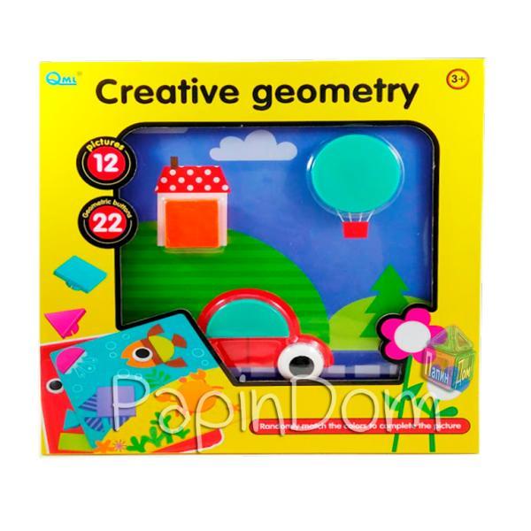 Мозаика Цветная фантазия Занимательная геометрия Button Idea Creative geometry